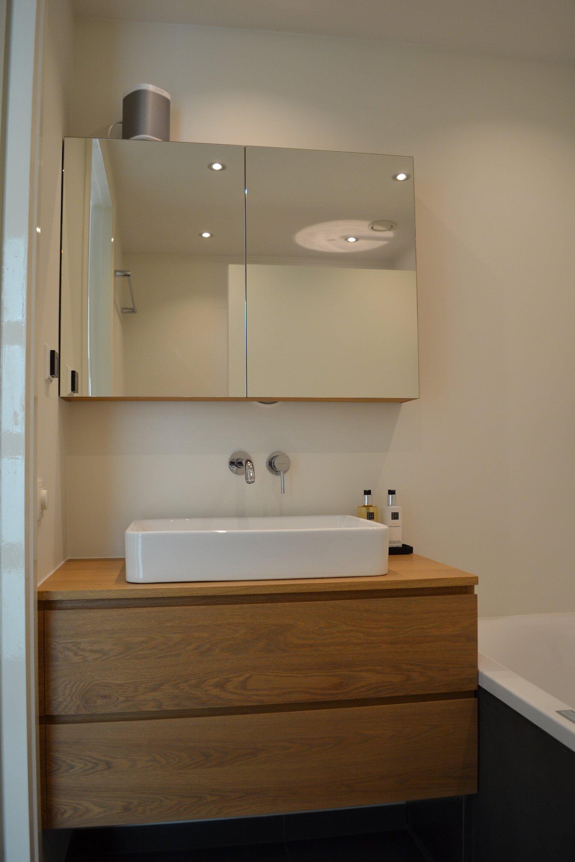 eiken badkamermeubel badkamer ontwerp bij nieuwbouw en